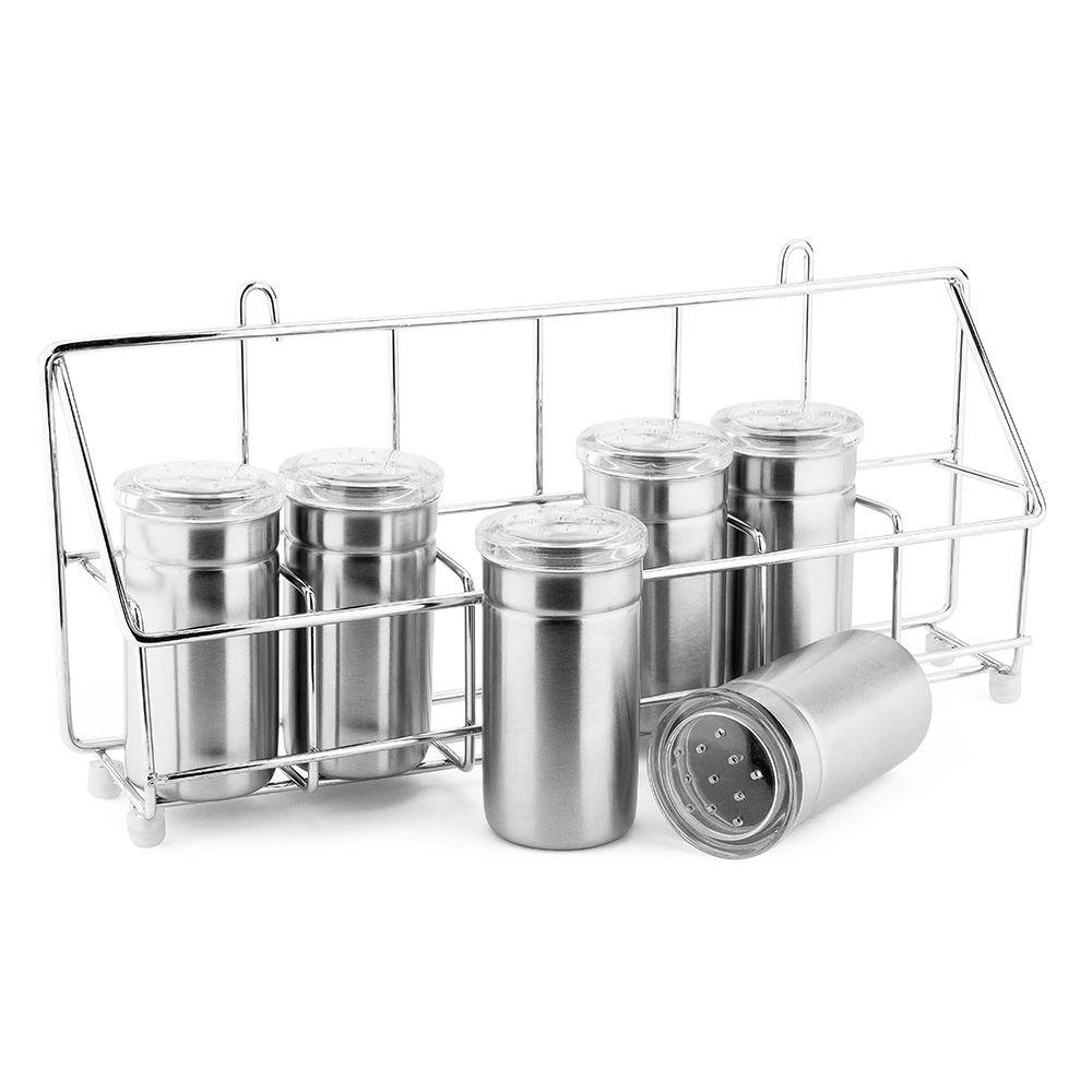Porta Condimentos 6 peças Inox - Ut79
