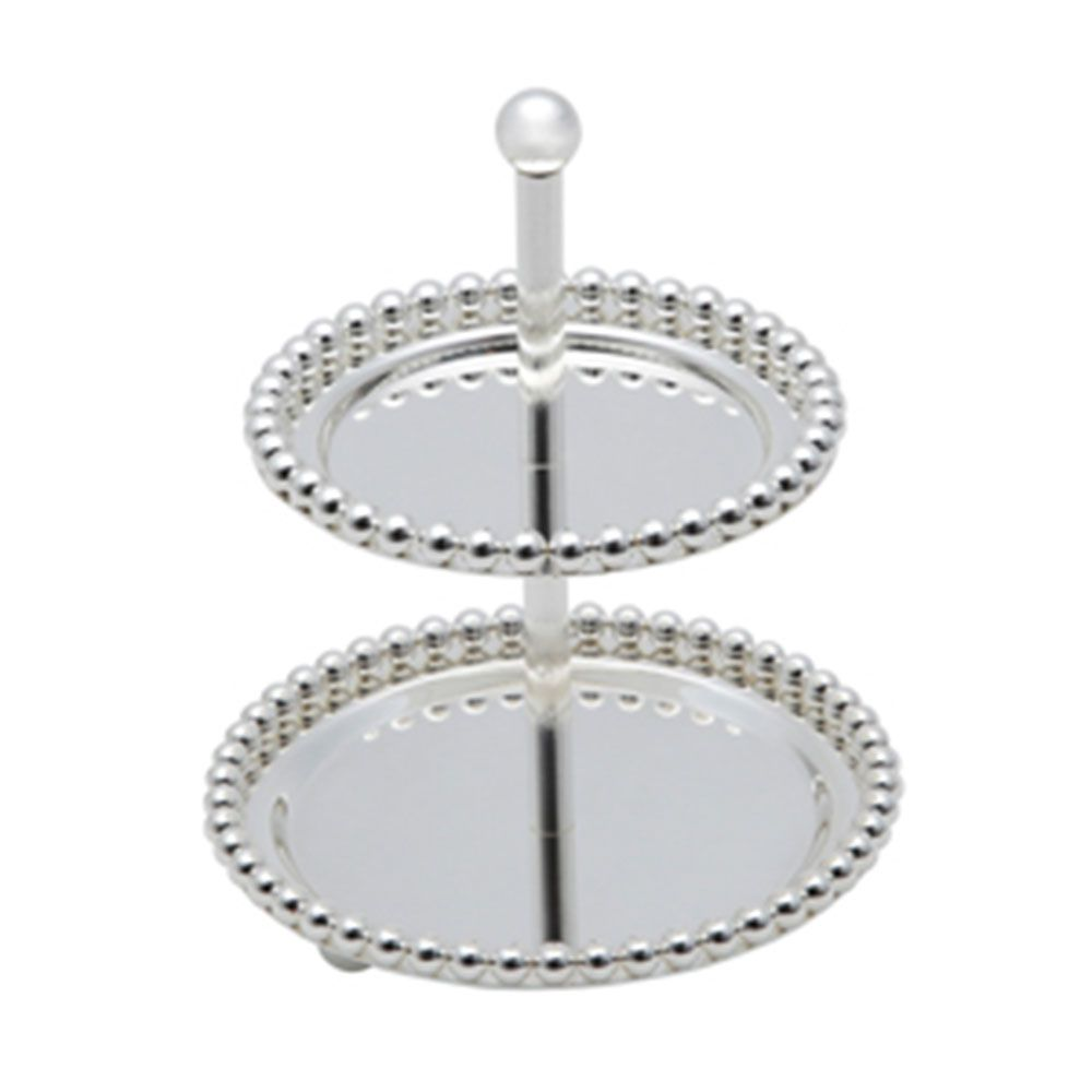 PORTA DOCES 2 AND ZAMAC SILVER PLATED BALLS - 3754