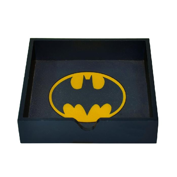 Porta Guardanapo Madeira Dc Logo Batman Preto - 75028051