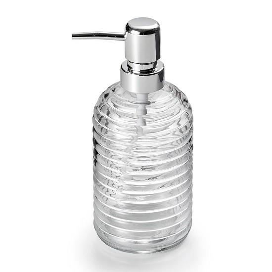 Porta Sabonete Líquido de Vidro Transparente 400 ML Bencafil - 143022
