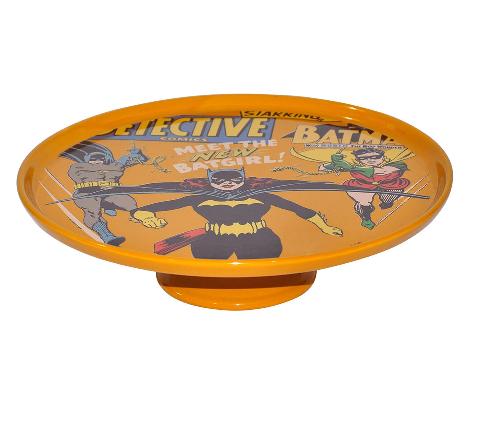 Prato De Bolo Com Pe Porcelana Dc Batgirl - 75026309
