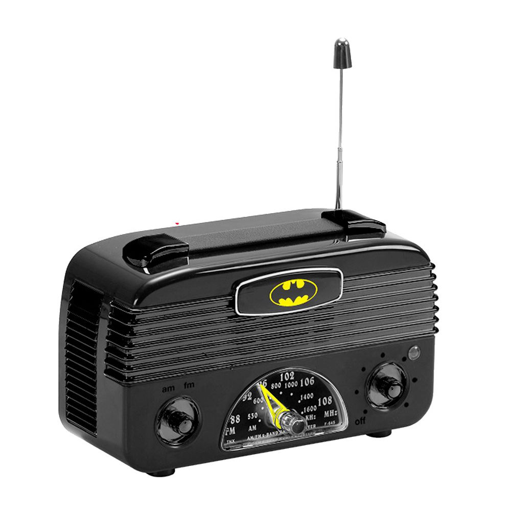 Radio Am/Fm Plastico Logo Batman Preto 17,5 X - 85006509