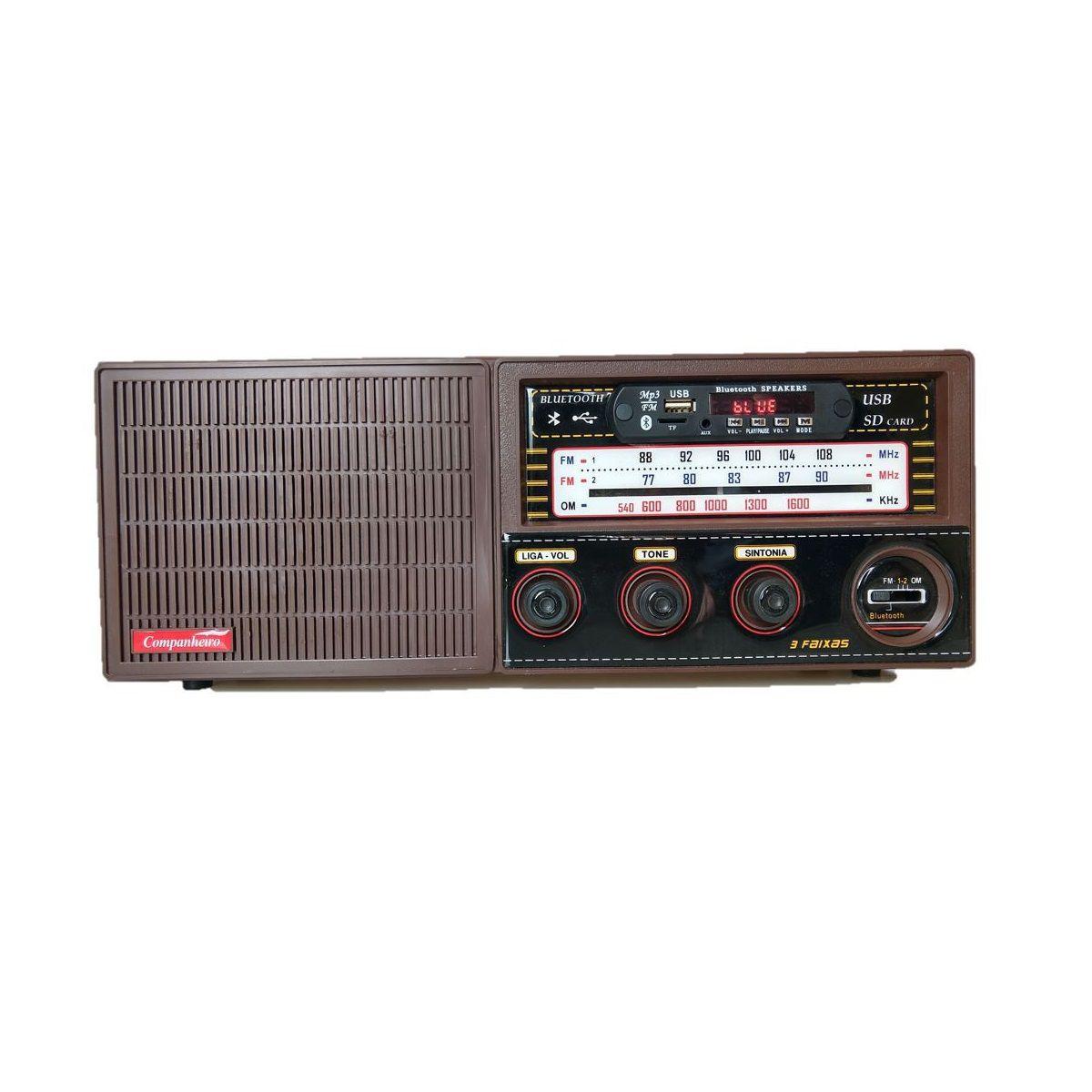 Rádio Companheiro Cabeceira com Entrada USB - CRC-33 USB