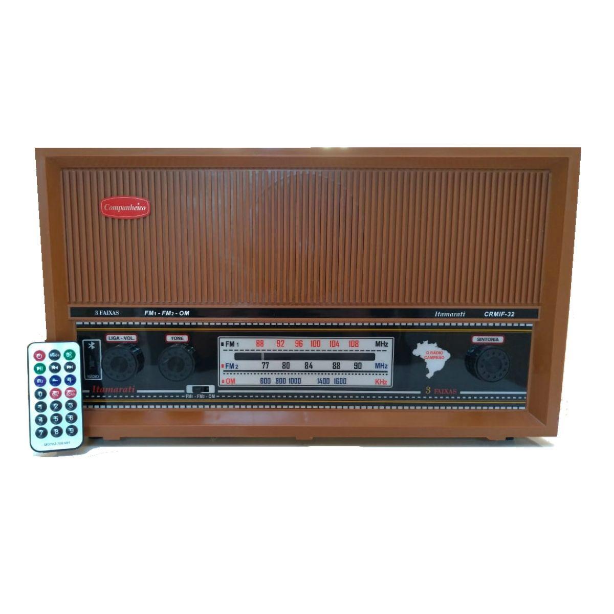 Rádio Companheiro De Mesa Itamarati 3 Faixas Com  Entrada Auxiliar Para Ipod/Mp3/Sd/Usb/Bluetooth - Crmif-32usb