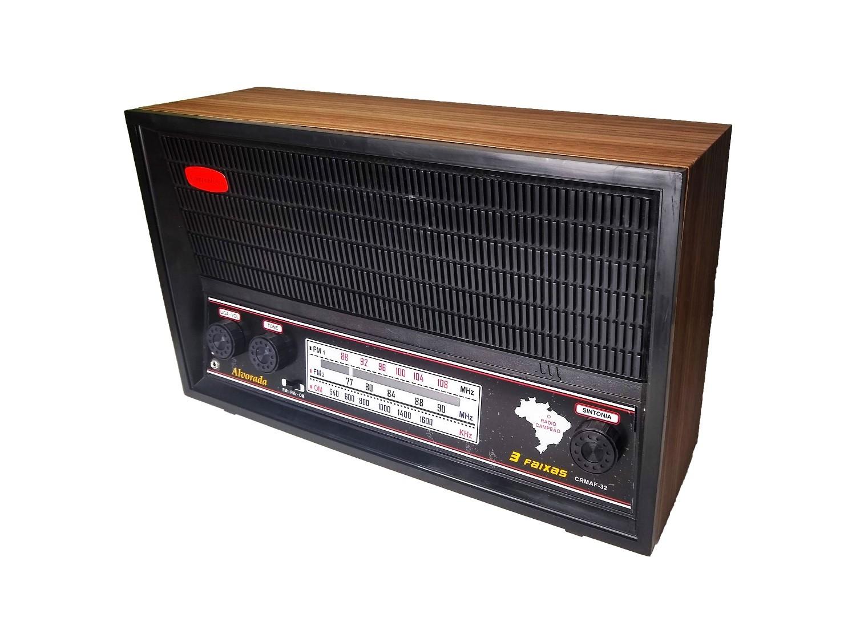 Radio Companheiro em Madeira Vintage Retrô Alvorada 3 Faixas AM FM e FMW - CRMAF-32