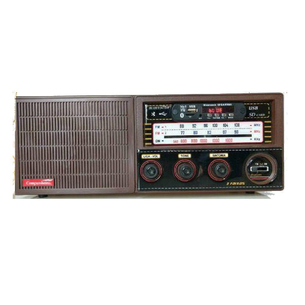 Radio Madeira Vintage Retrô 3 Faixa Entra Usb Pendrive CRC-33 USB - FULLFILMENT VENDAS