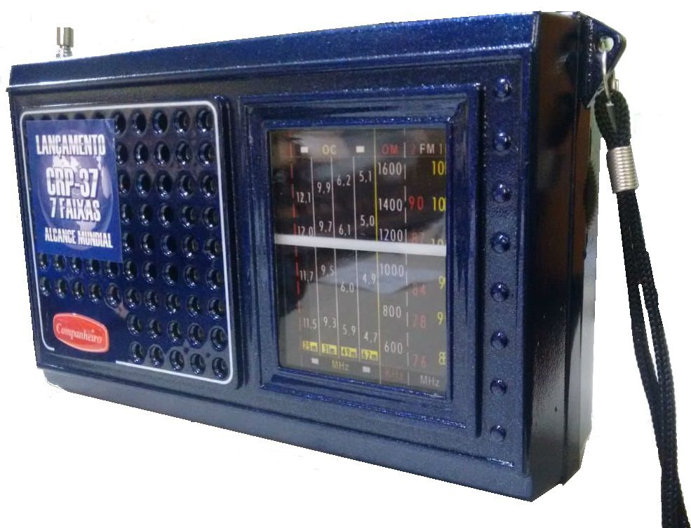 Radio Portátil 7 Faixas Pilha Com Entrada Para Eliminador De Pilha Alcance Mundial - CRP-37