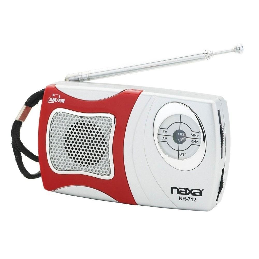 Rádio Portátil Naxa AM/FM Com Alto-Falante Integrado - NR714