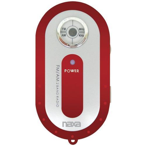 Rádio Portátil Naxa  Am/Fm Sintonia: Am 530-1.710 Khz E Fm 88-108 - NR720 Vermelho