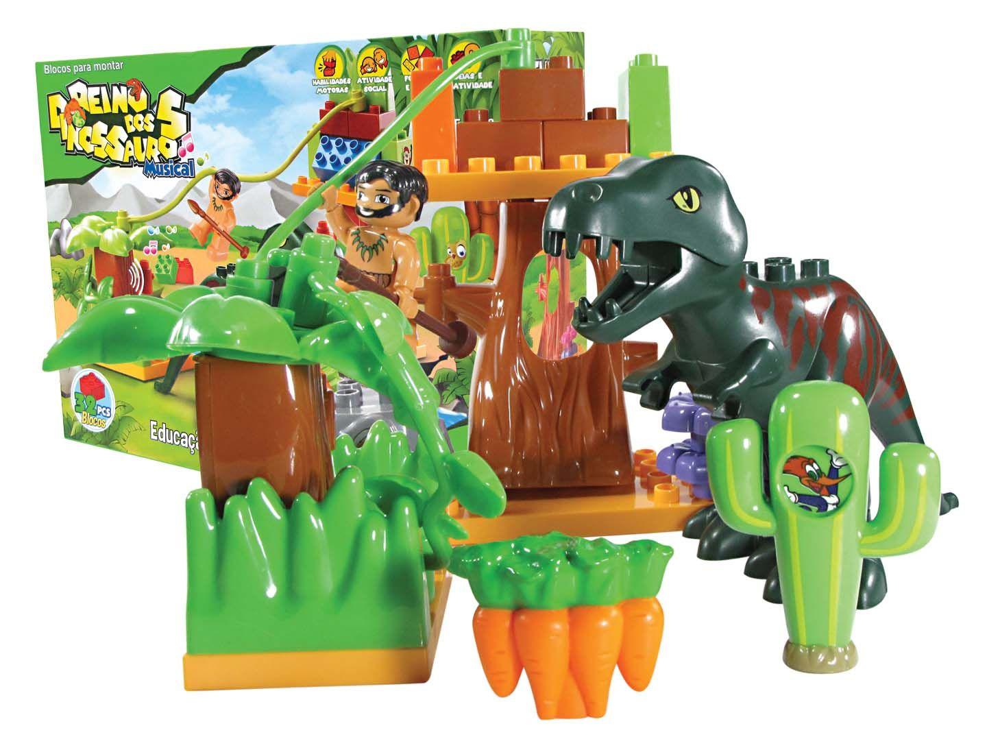 Reino Dos Dinossauros Para Montar Musical - 5018