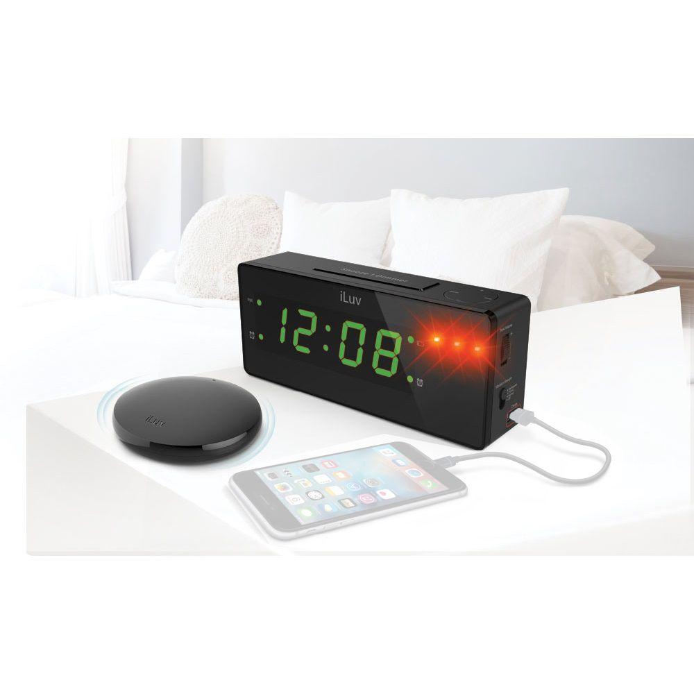 Relogio Despertador iLuv LED Bivolt 2 Alarmes Função Vibrar E USB - TIMESHAKER