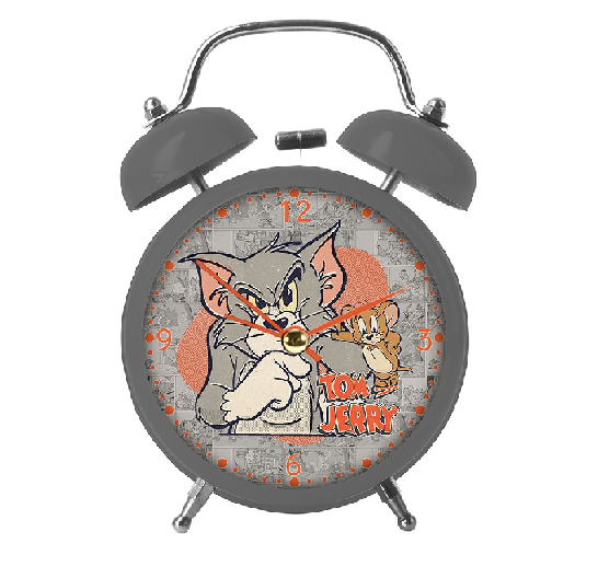 Relógio Mesa Despertador Hb Tom And Jerry Mad - 71028431