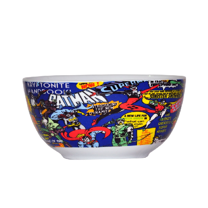 Set 2 Peças Bowl Porcelana Dc Comics Super Hero - 75027748