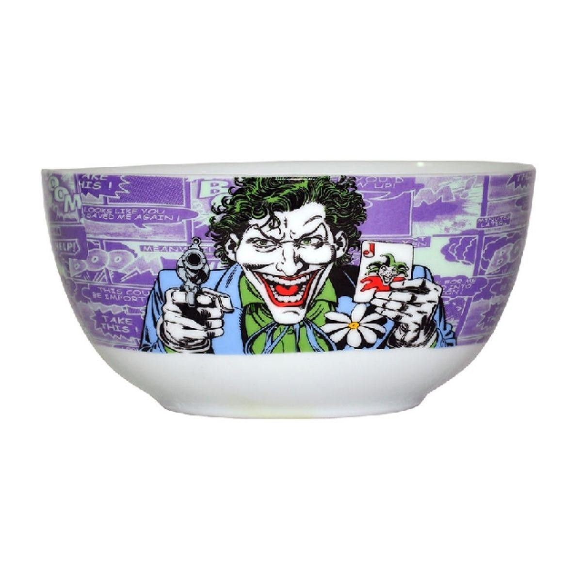 Set 2 Peças Bowl Porcelana Dc Joker Com Baralho - 75027743