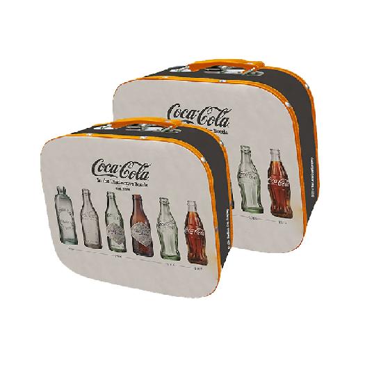 Set 2 Peças Maletas Mdf/Lona Coca-cola - 85027409