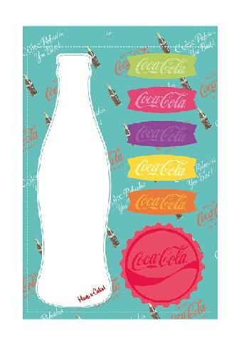 Set Bloco Notas Adesivo Coca-cola Contour - 59027436