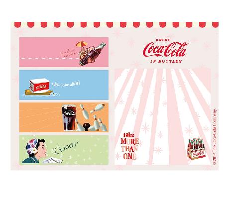 Set Bloco Notas Com Adesivo Coca-cola All Kinds - 59027434