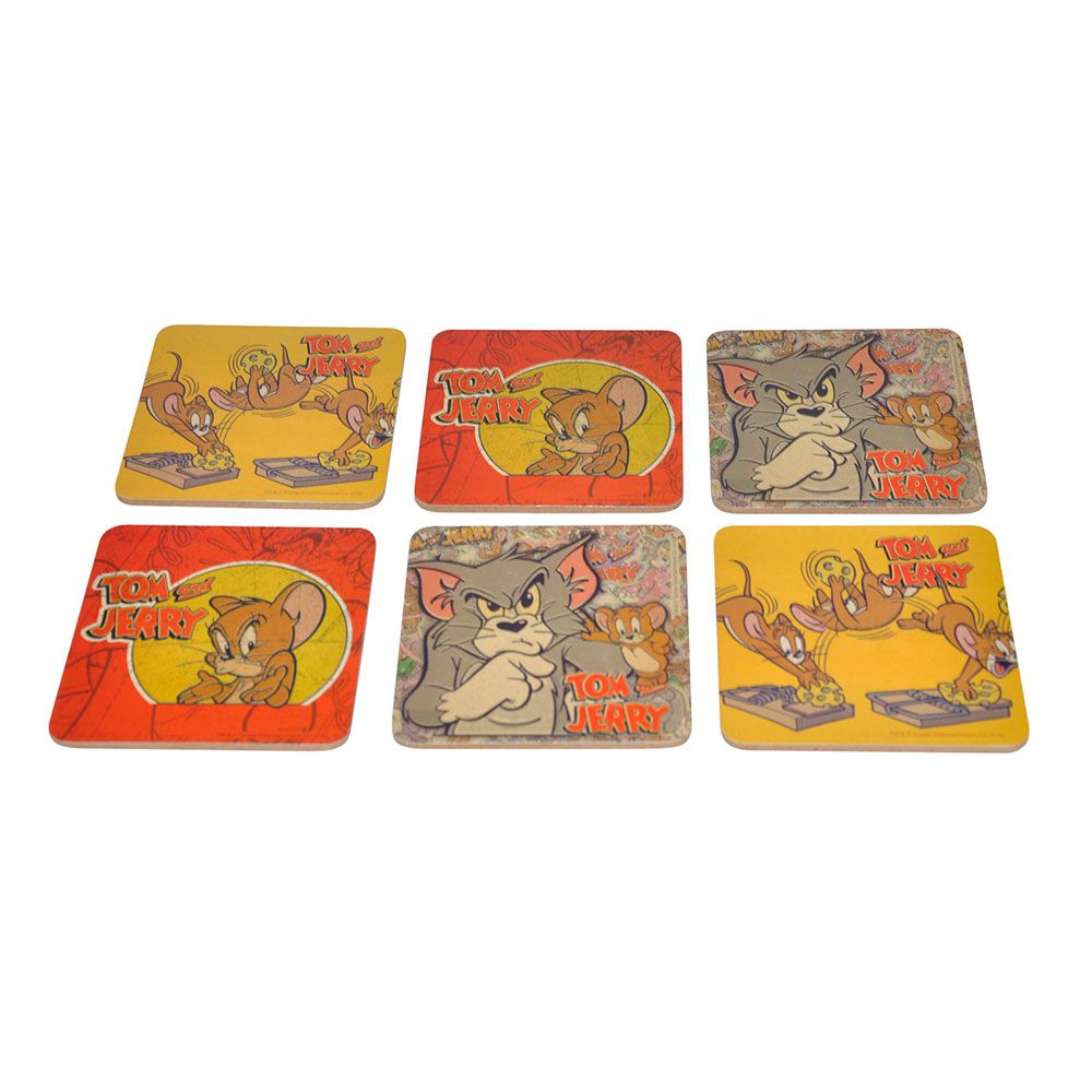 Set C 6 Porta Copos Mdf Hb Tom And Jerry Mad - 75028540