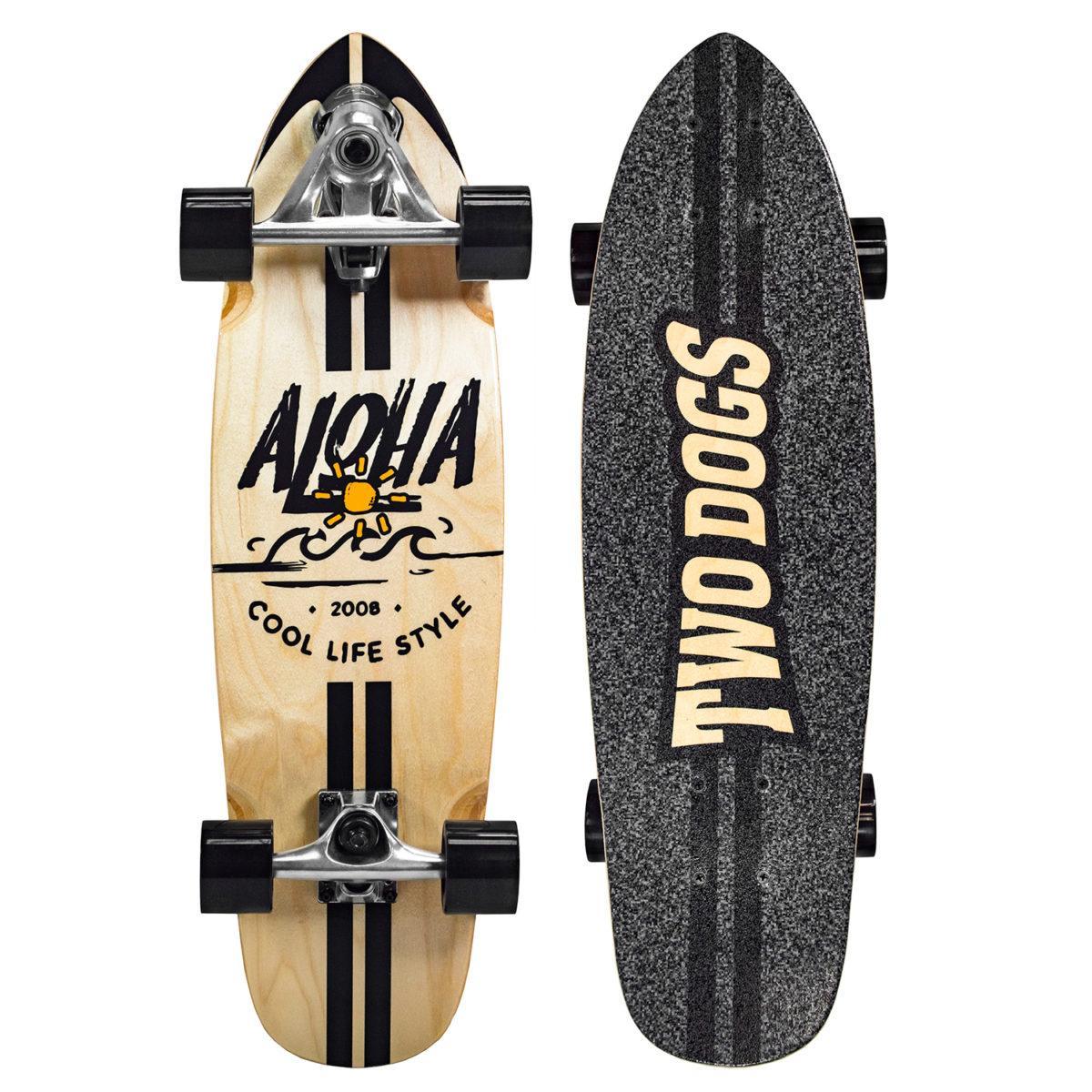 Skate Simulador De Surf Two Dogs - Aloha - TD-SS101