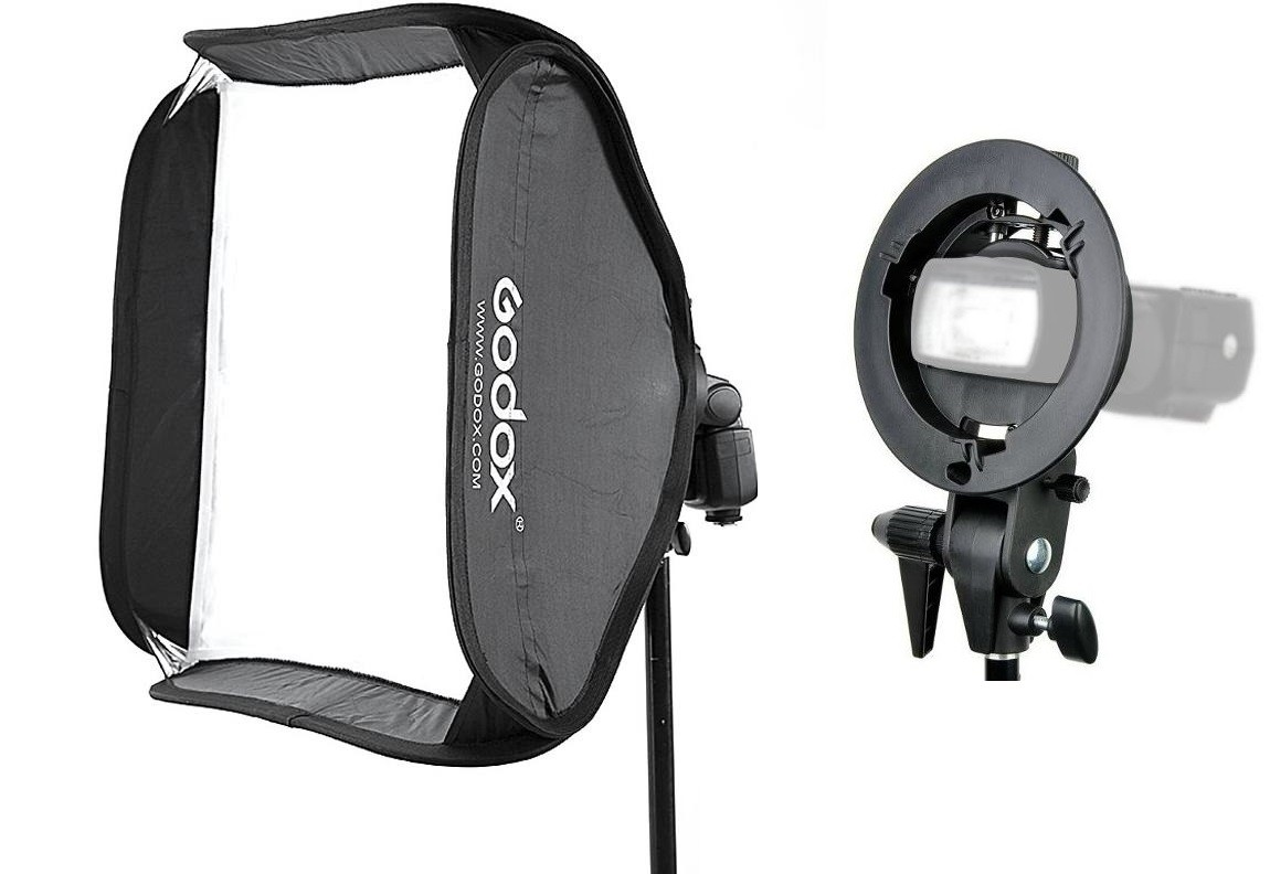 "Softbox Para Flash Dedicado 60x60cm Speedlight Dobravel Com Tela Difusora ""SpeedLite"" -  SFUV60X60"