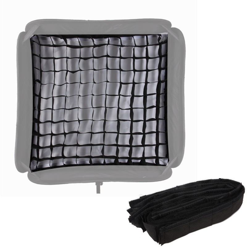 Softbox Para Flash Dedicado 60x60cm Speedlight Dobravel Com Grid