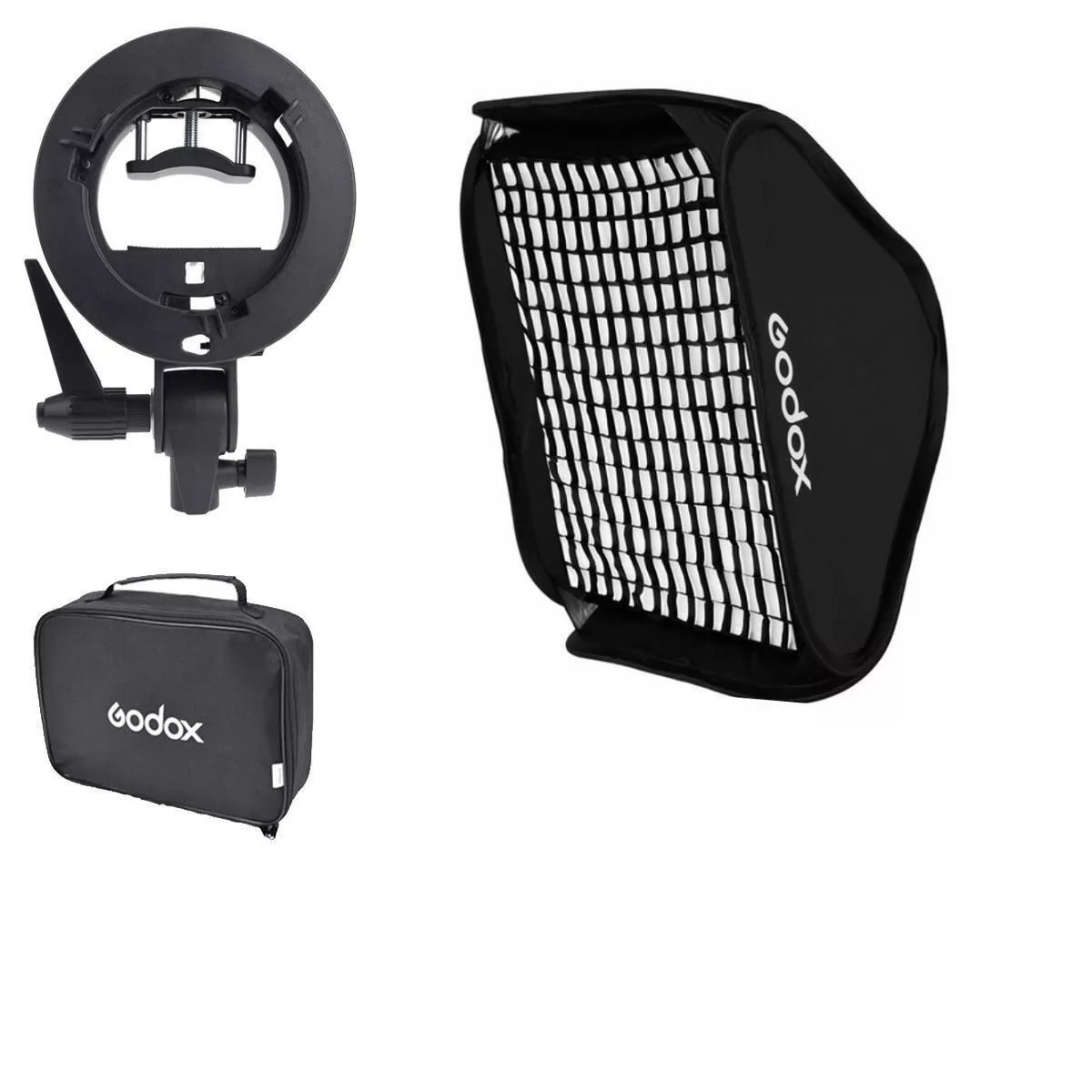 Softbox Para Flash Dedicado 60x60cm Speedlight Dobravel Com Grid - SFUV60X60 GRID
