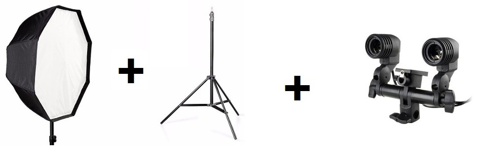 Kit Para Estudio Fotografico Softbox Octabox 120cm E Tripé 2 Metros II