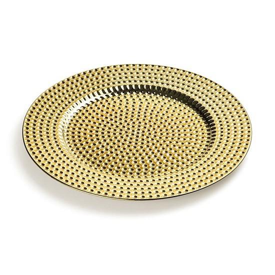 Sousplat Dourado Bolinhas 33 X 33 X 2 CM Bencafil - 88165