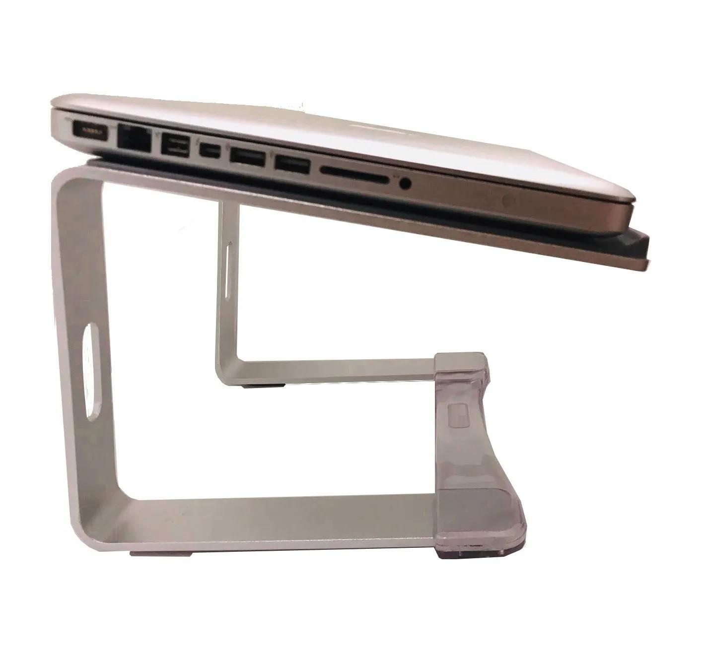 Suporte Prata Elevado Aluminio Alto Higher 175mm Djs Notebooks - S17 Prata