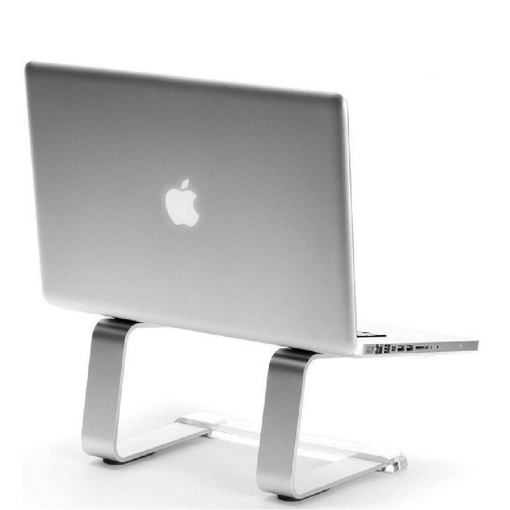 Suporte Elevado Curv Cristal Aluminio Para Notebook Macbook 9 a 17