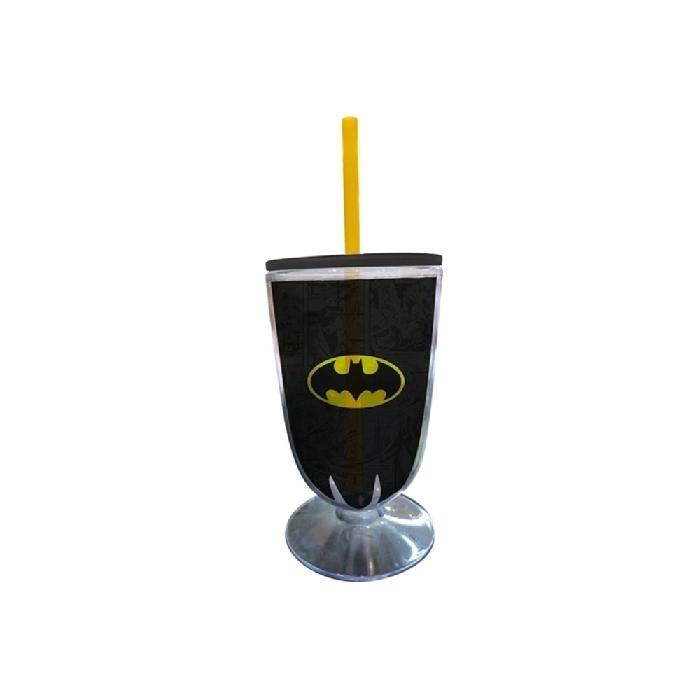 Taça Acrílica Dco Batman Logo Preto/Amarelo - 75026884