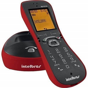 Telefone Sem Fio Digital Itelbras Com Display Luminoso - TS 8220 VERMELHO