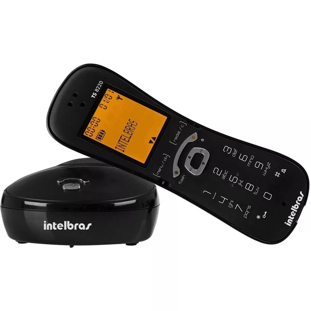 Telefone Sem Fio Trilíngue Multiuso E Funções INTELBRAS - TS8220