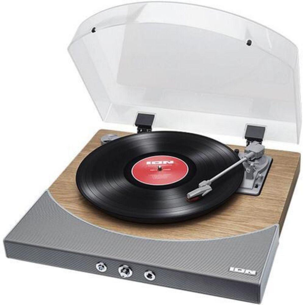 Toca Discos Com Conversor Digital Amplificador Interno Transmissor Áudio Sem Fio Bluetooth - Premierlp ION