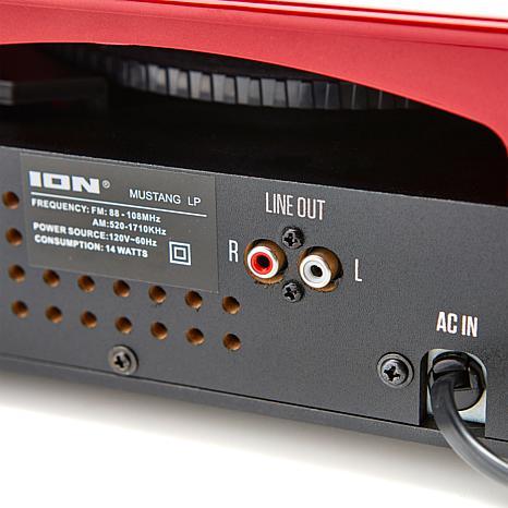 Toca-discos vinil Mustang ION c/ rádio, USB, entrada auxiliar e conversão digital - MUSTANGLP