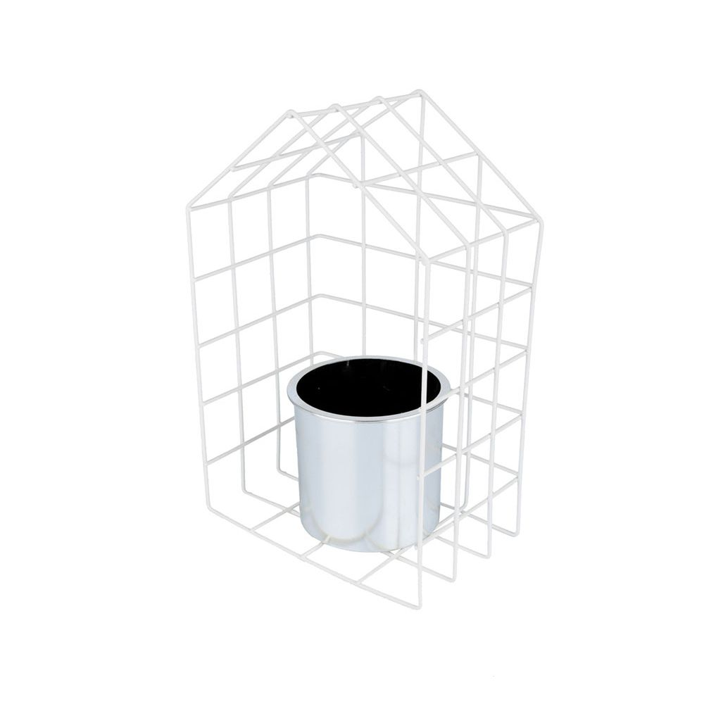 VS METAL/PLAST GEO FORMS HOUSE PRATA - 40692