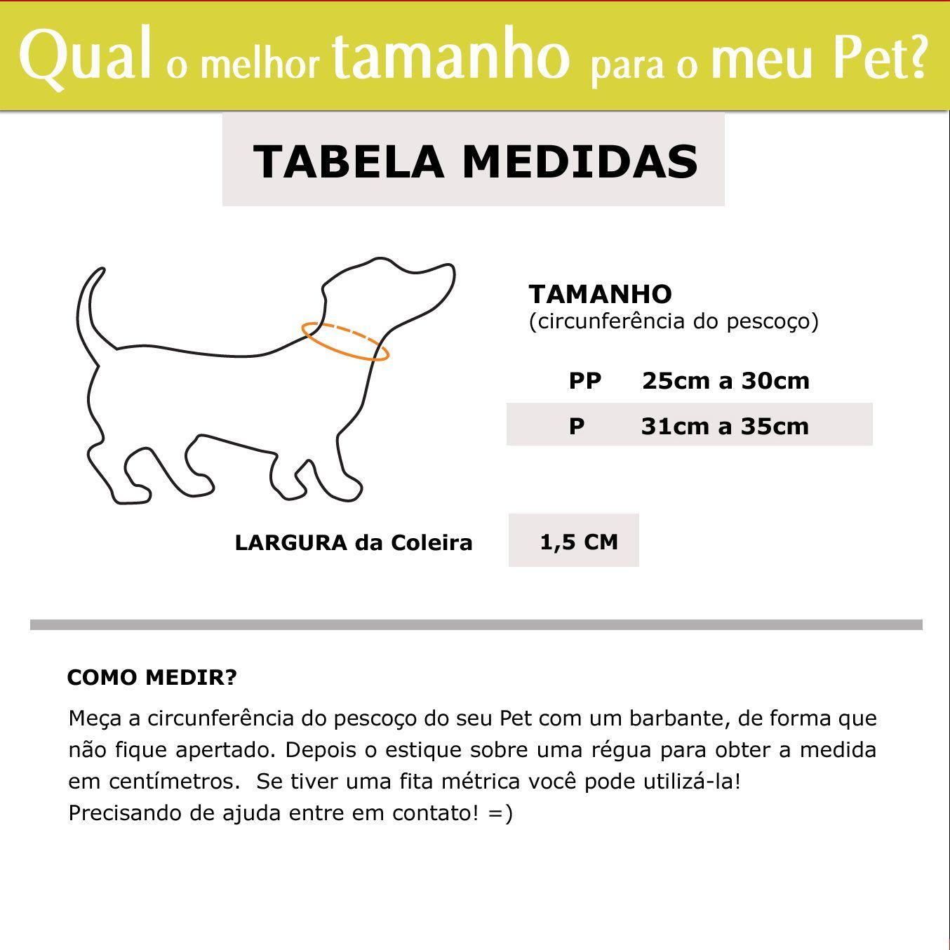 Coleira Identificação Cachorro - 1,5cm - PP / P - Icones - Customize!  - PetPatuá | Coleiras de Identificação