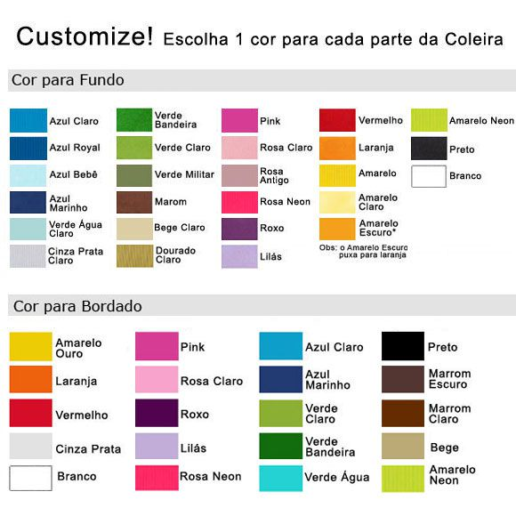 Coleira Personalizada Caes - 1,5cm - PP / P - Customize!  - PetPatuá | Coleiras de Identificação