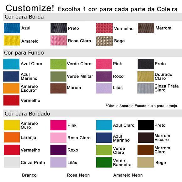 Coleira Personalizada Caes - 5cm - G / GG /  XXG - Icones - Customize!  - PetPatuá | Coleiras de Identificação