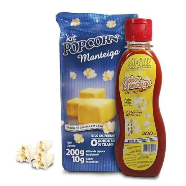 Pipoca Tradicional + Tempero Manteiga + Óleo Vegetal sabor de Manteiga
