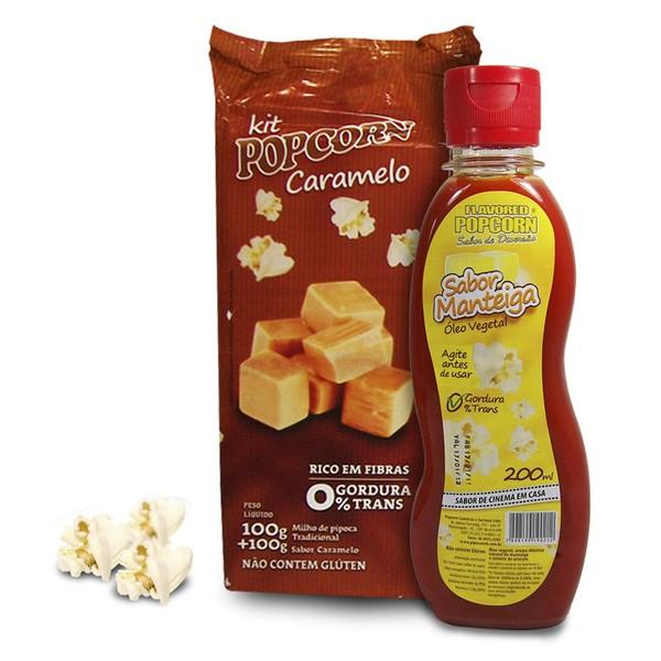 Mix  Milho de pipoca + Caramelo + Óleo Vegetal sabor de Manteiga