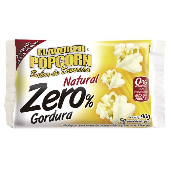 Pipoca Micro-ondas Zero % gordura c/ sachê sabor Cx 12 Bags