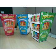 Expositor formato de caixa Popcorn - Display  - 22 frascos