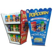 Expositor de temperos caixa Popcorn - Display  - 22 frascos - 02 frentes
