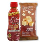 Pipoca Tradicional + Caramelo + Óleo Vegetal sabor Bacon