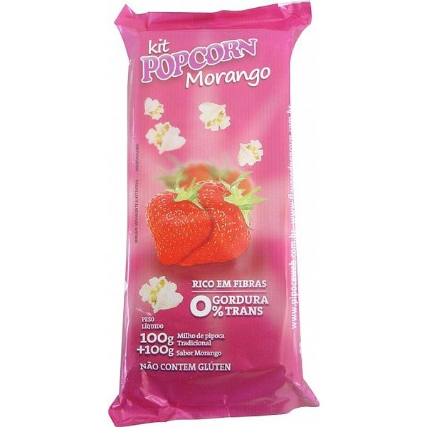 Mix Pipoca Doce - sabor Morango