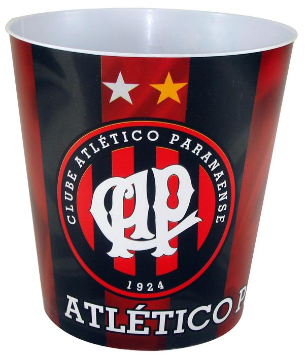Balde p/ pipoca do Atlético Paranaense + 3 pipocas de micro-ondas