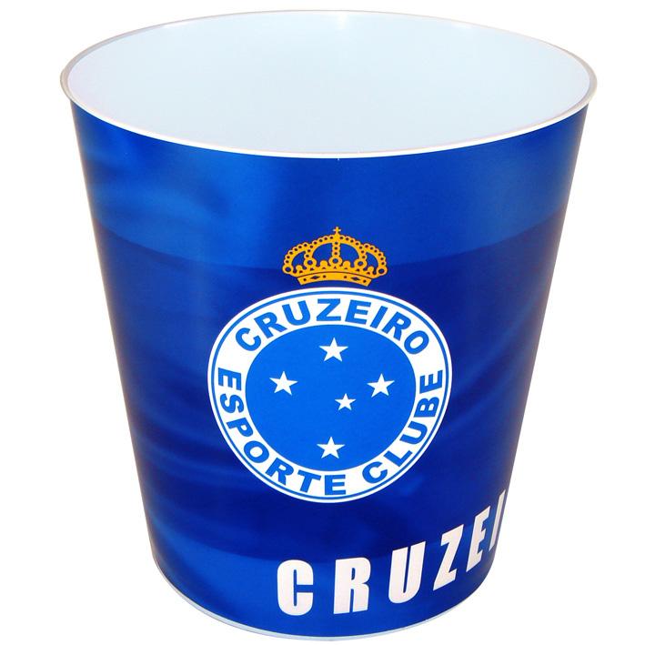 Balde p/ pipoca do Cruzeiro + 3 pipocas de micro-ondas