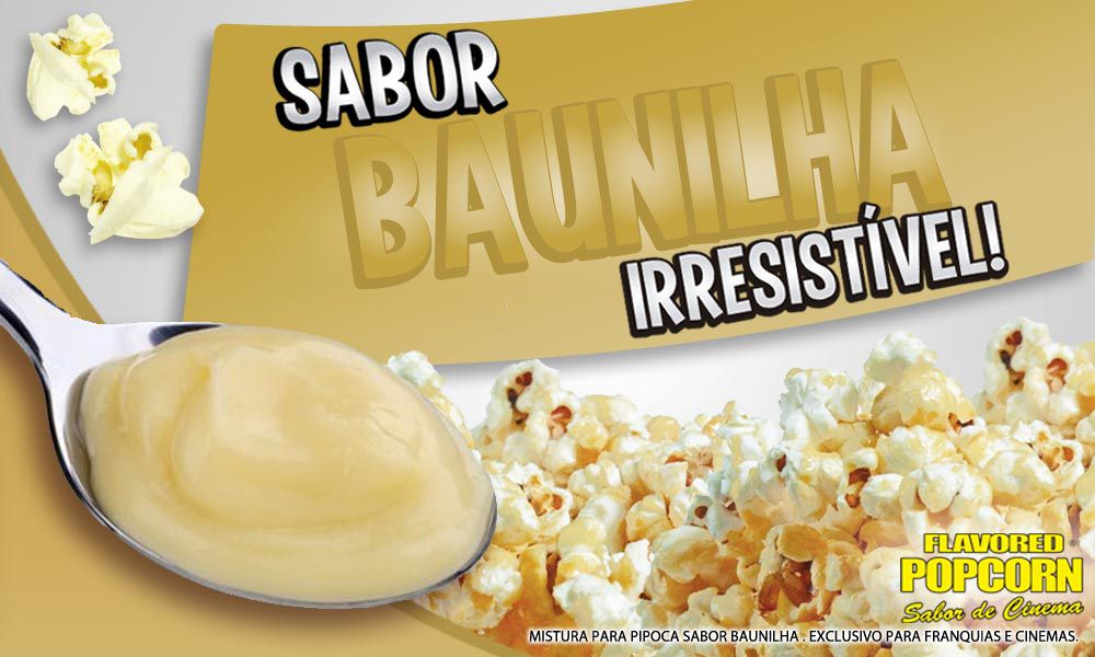 Doces - Baunilha - Pct 1kg - p/ Pipoqueiras de Cinemas