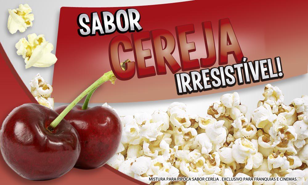 Caramelos e sabores p/ Pipoca Doce - Cereja - 1kg